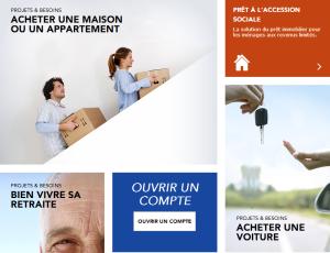 nouveau site web - La Banque Postale